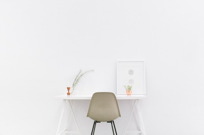 Writer In Malaysia: Chair and white table