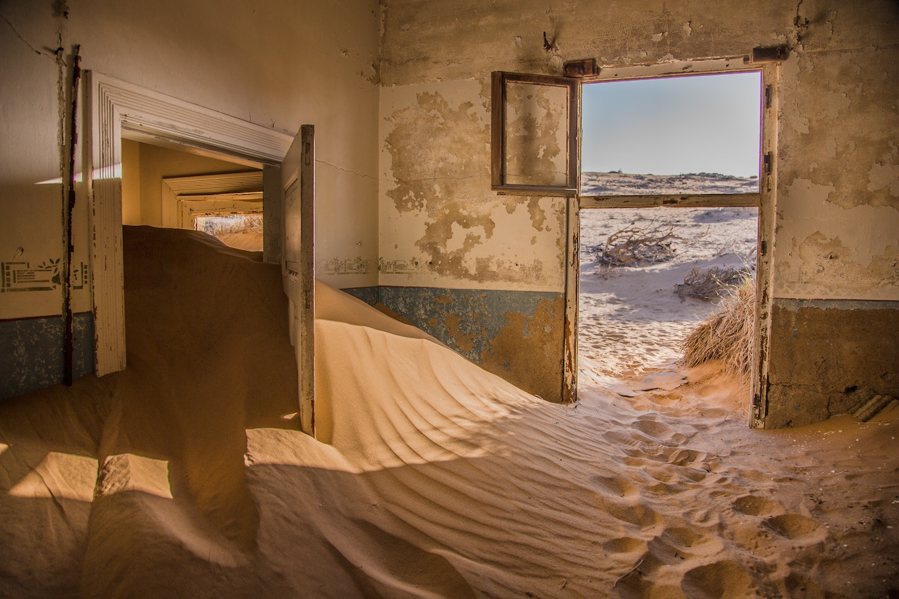 Sand dunes in a house