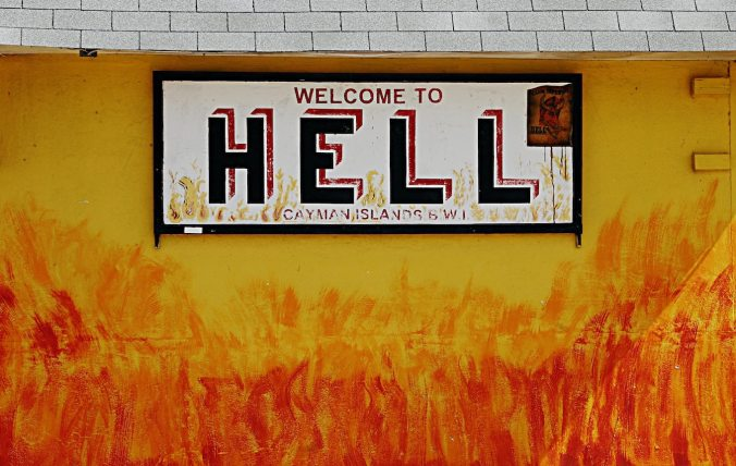 Sign saying Welcome To Hell