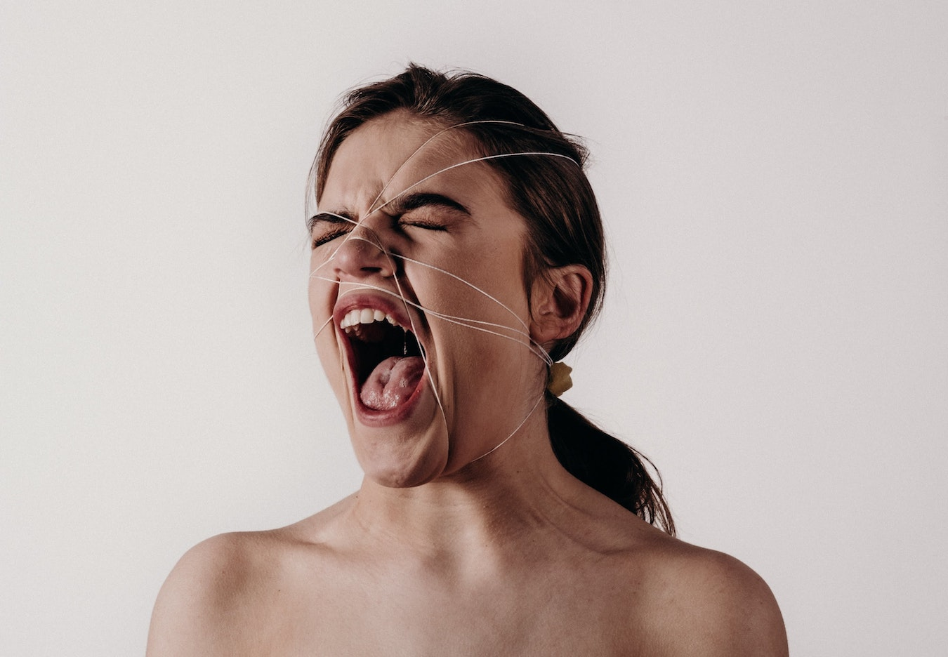Woman screaming