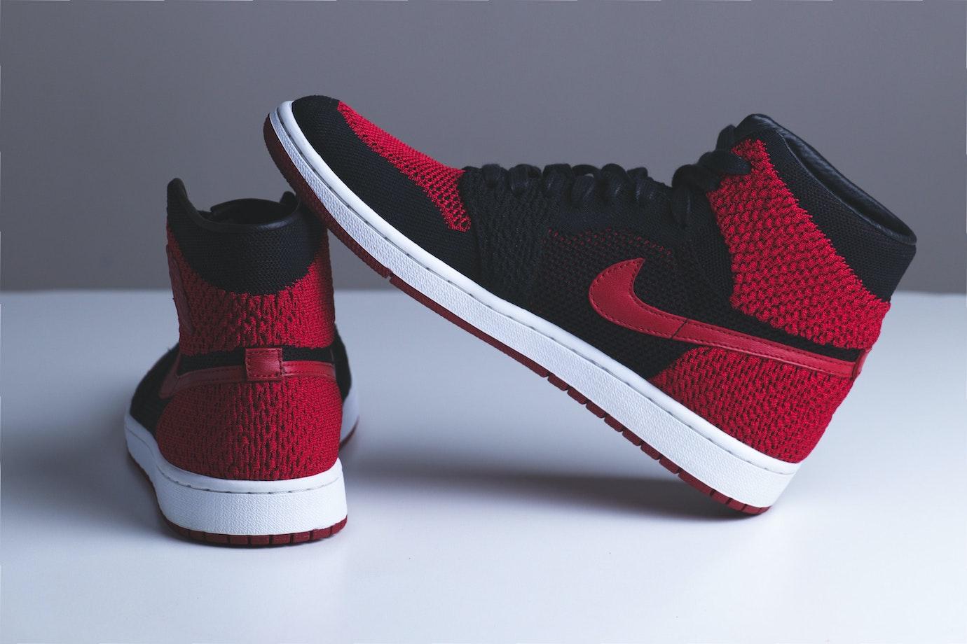 A pair of Nike sneakers