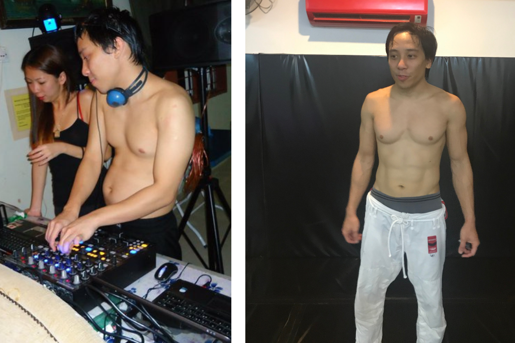 Before and after weight-loss pics of Stuart Danker